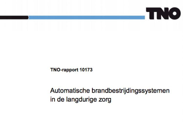 TNO Rapport Automatische Brandbestrijding langdurige zorg