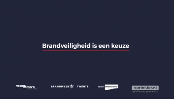 Informatiefilm Brandweer Twente en VEBON-NOVB: Sprinkler vs geen sprinkler