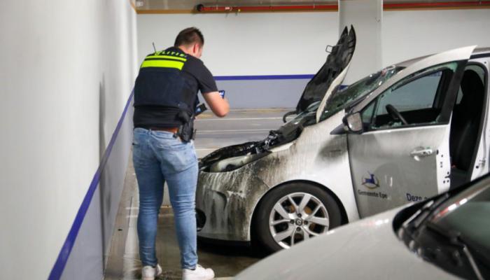 Sprinklers controleren brand parkeergarage Epe